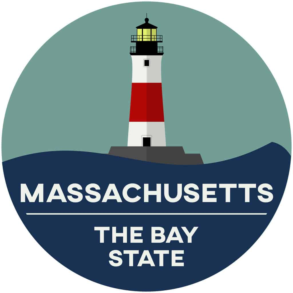 Massachusetts: the bay state logo