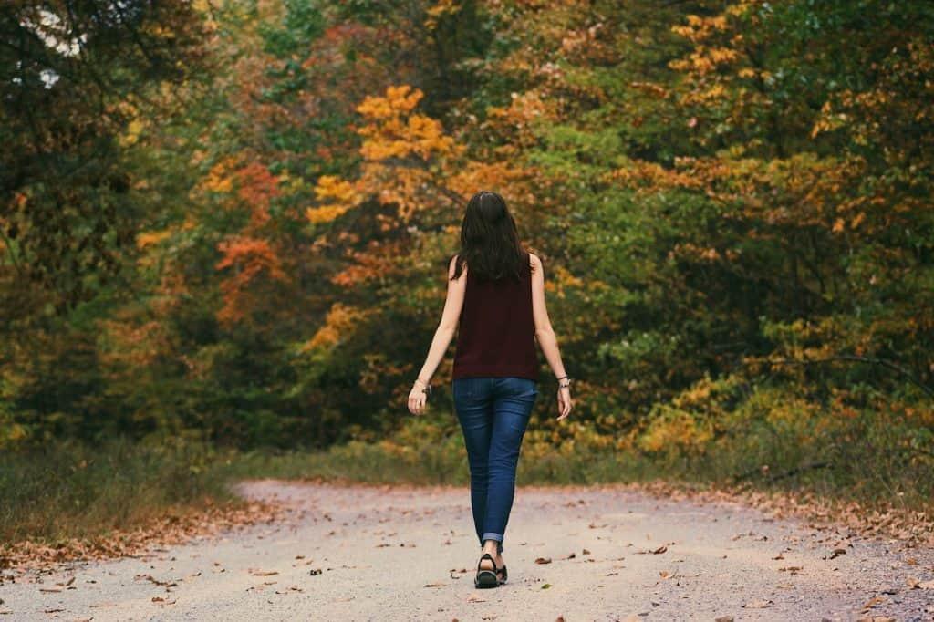 Inpatient vs Outpatient: Woman on a walk